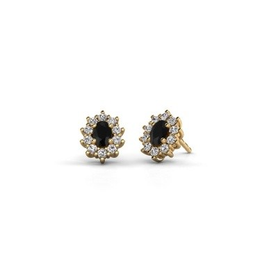 Picture of Earrings Leesa 375 gold black diamond 1.800 crt