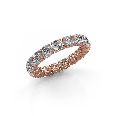 Picture of Stackable ring Vivienne 3.7 375 rose gold lab-grown diamond 3.40 crt