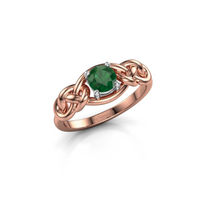 Picture of Ring Zoe 585 rose gold emerald 5 mm