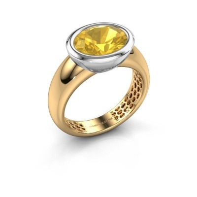 Ring Evelyne 585 gold yellow sapphire 10x8 mm