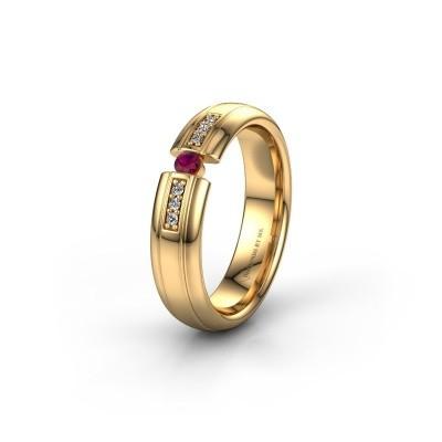 Trauring WH2128L26C 585 Gold Rhodolit ±5x2 mm