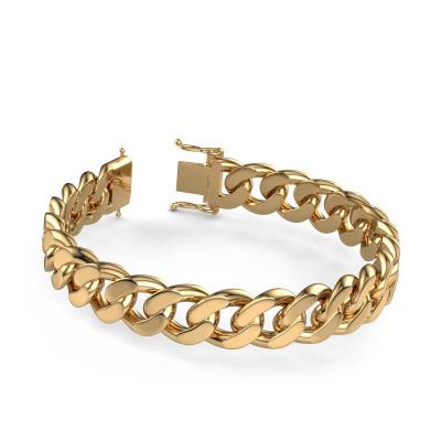 Cuban link armband ±13 mm 585 goud