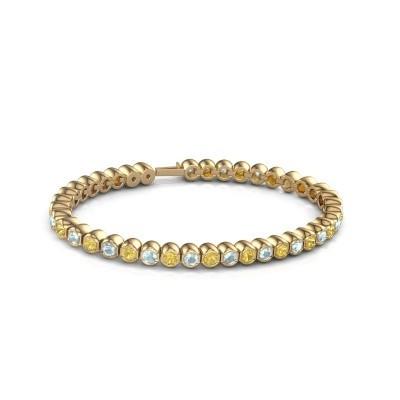 Tennisarmband Mellisa 375 goud gele saffier 3.5 mm