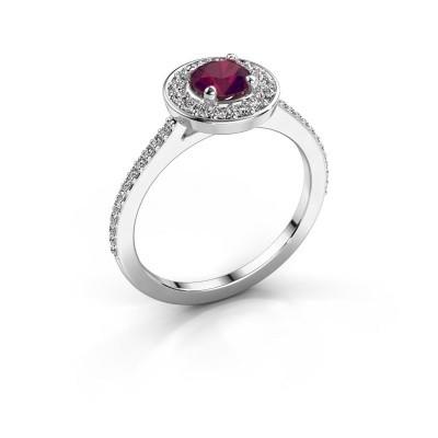 Ring Agaat 2 950 platinum rhodolite 5 mm