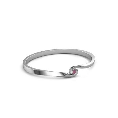 Bangle Sheryl 950 platinum rhodolite 3.7 mm