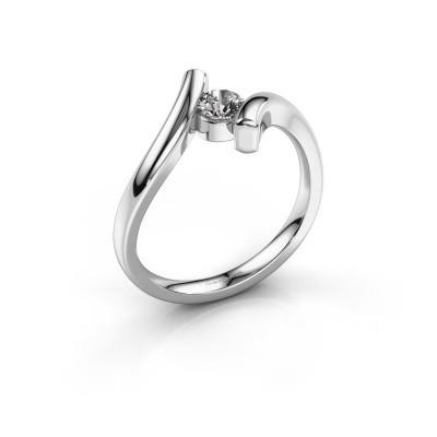 Foto van Ring Amy 585 witgoud diamant 0.25 crt