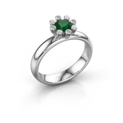 Stapelring Carola 2 950 platina smaragd 5 mm
