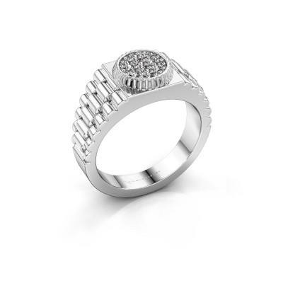 Foto van Heren ring Nout 585 witgoud zirkonia 2 mm
