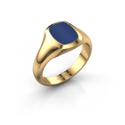 Signet ring Zelda 1 585 gold lapis 10x8 mm