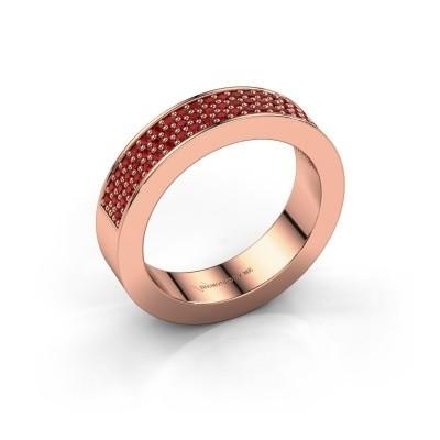 Foto van Ring Lindsey 2 375 rosé goud robijn 1.1 mm