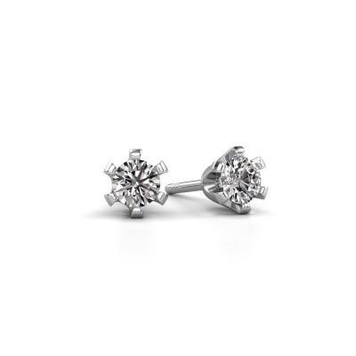 Picture of Stud earrings Shana 925 silver zirconia 4 mm