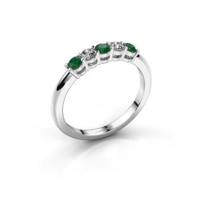 Foto van Promise ring Michelle 5 585 witgoud smaragd 2.7 mm