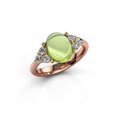 Ring Clarice 585 rosé goud peridoot 10x8 mm