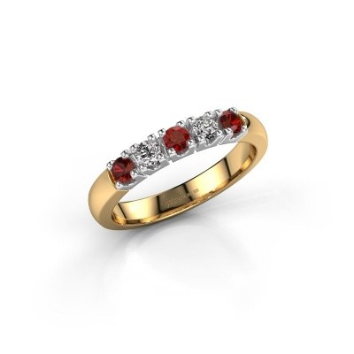 Engagement ring Rianne 5 585 gold garnet 2.7 mm