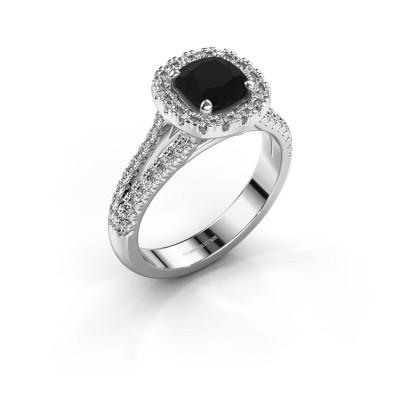Verlovingsring Francesca 925 zilver zwarte diamant 1.89 crt
