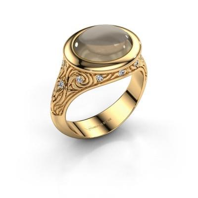 Ring Natacha 585 goud rookkwarts 12x10 mm