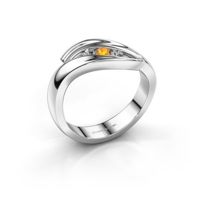 Foto van Ring Erin 925 zilver citrien 2.4 mm