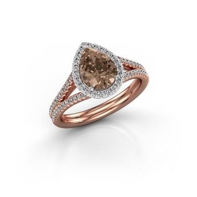 Foto van Verlovingsring Elenore 2 585 rosé goud bruine diamant 1.337 crt