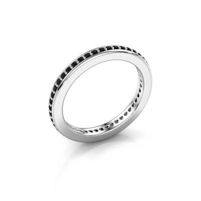 Aanschuifring Elvire 2 925 zilver zwarte diamant 0.414 crt