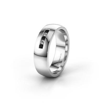 Ehering WH0107L26BP 950 Platin Schwarz Diamant ±6x2 mm