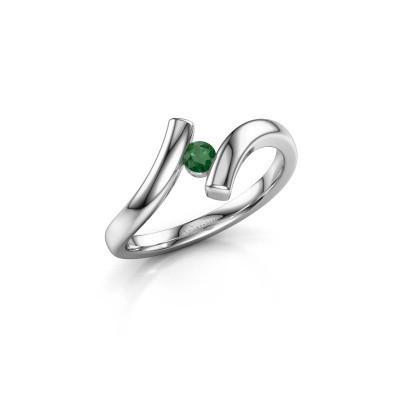 Foto van Ring Amy 950 platina smaragd 3 mm