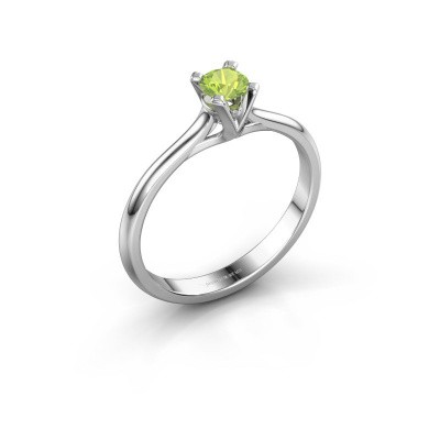 Picture of Engagement ring Isa 1 925 silver peridot 4 mm