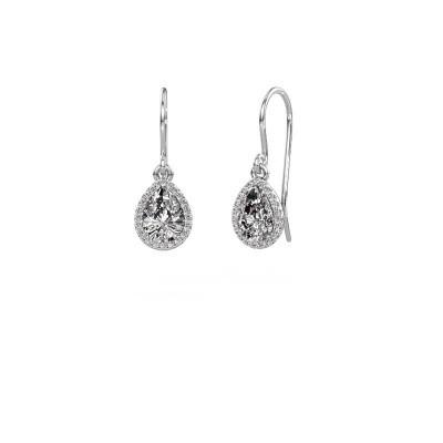 Oorhangers Seline per 950 platina diamant 0.65 crt