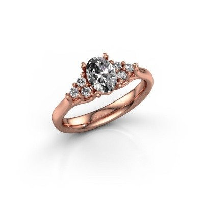 Foto van Verlovingsring Monika OVL 375 rosé goud lab-grown diamant 0.95 crt