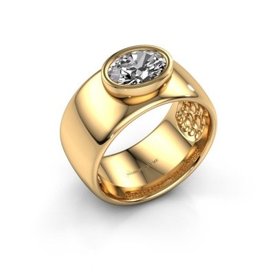 Ring Anouschka 585 gold zirconia 8x6 mm