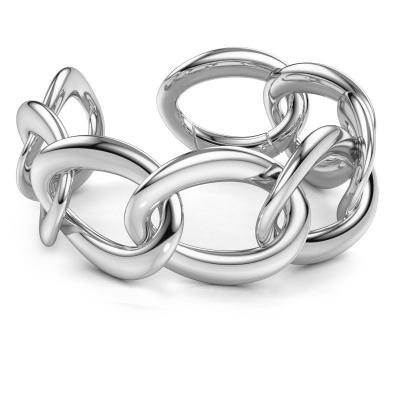Picture of Flat link bracelet Myrl 35mm 585 white gold