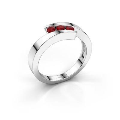 Foto van Ring Gracia 950 platina robijn 2.7 mm