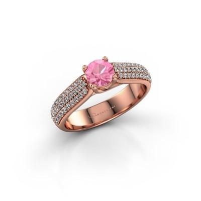Bild von Verlobungsring Leoness 375 Roségold Pink Saphir 5 mm