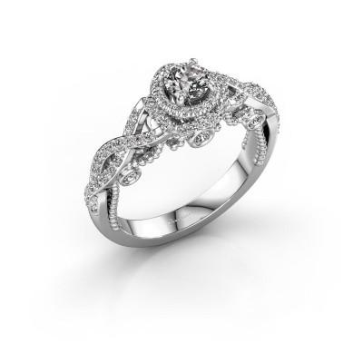 Verlobungsring Leora 585 Weißgold Diamant 0.73 crt