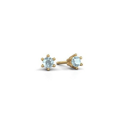 Picture of Earrings Fay 375 gold aquamarine 3.4 mm