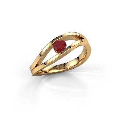 Foto van Ring Sigrid 1 585 goud robijn 4 mm