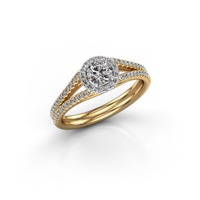 Engagement ring Verla rnd 2 585 gold diamond 0.584 crt