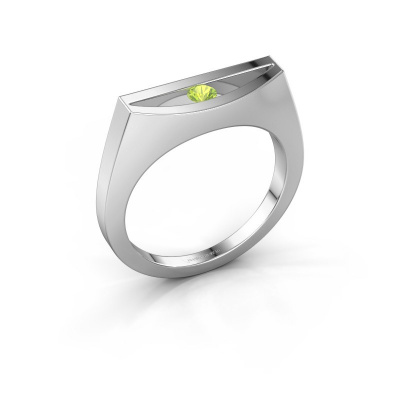 Ring Milou 925 silver peridot 3 mm