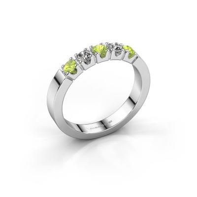 Engagement ring Dana 5 585 white gold peridot 3 mm