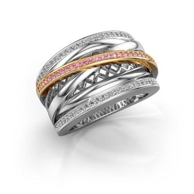 Bild von Ring Tabita 585 Weißgold Pink Saphir 1 mm