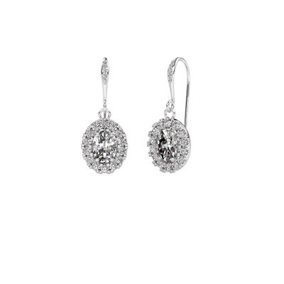 Picture of Drop earrings Jorinda 2 375 white gold zirconia 7x5 mm