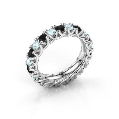 Ring Fenna 585 witgoud zwarte diamant 1.320 crt