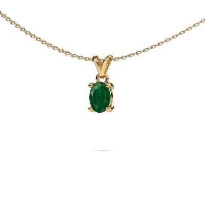 Ketting Lucy 1 375 goud smaragd 7x5 mm