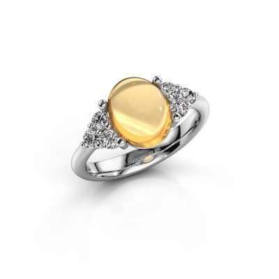 Ring Clarice 950 platina citrien 10x8 mm