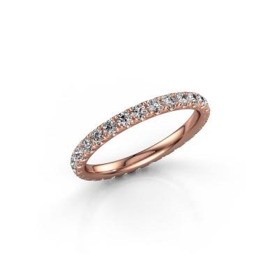 Foto van Aanschuifring Jackie 2.0 375 rosé goud lab-grown diamant 0.87 crt