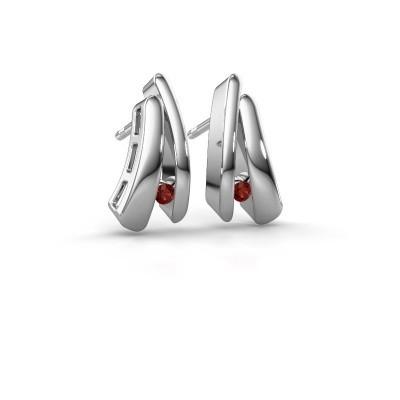 Picture of Earrings Liesel 925 silver garnet 2 mm
