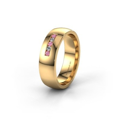 Ehering WH0107L26BP 585 Gold Pink Saphir ±6x2 mm