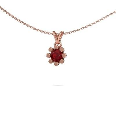 Foto van Hanger Carola 1 375 rosé goud robijn 5 mm