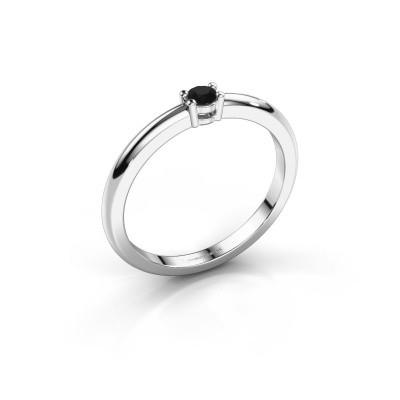 Foto van Verlovingsring Michelle 1 925 zilver zwarte diamant 0.096 crt