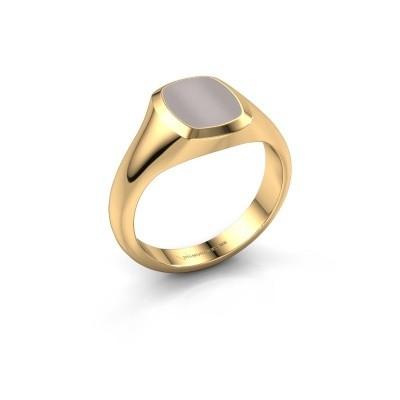 Foto van Pink ring Benjamin 1 585 goud rode lagensteen 10x8 mm