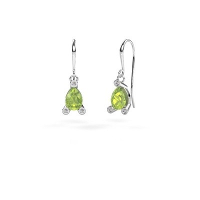 Picture of Drop earrings Bunny 1 375 white gold peridot 7x5 mm